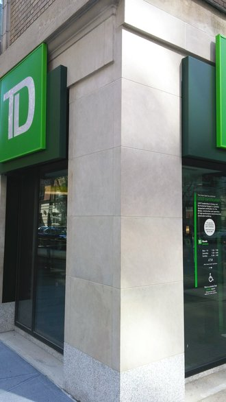 Corner Detail of TD Bank on Madison Avenue - New York