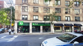 Entrance to TD Bank on Madison Avenue - New York