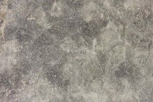 A light and dark grey marble with light veins.