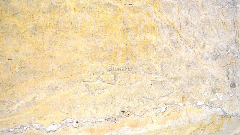 A beige granite with veins.