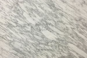 Soft white marble with flowing grey veining