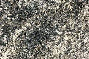 A  black granite with beige veining