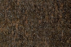 A coarse grained, blue and green granite.