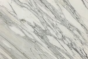 White marble with gold and grey veining