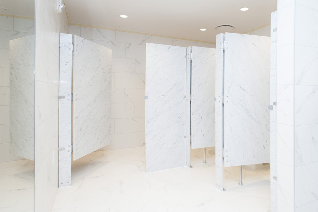 Delicieux StonePly Panels Used As Bathroom Partitions