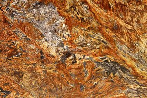 A gold-yellow and brown granite.