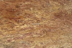 A gold granite with golden brown veins.