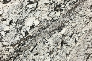 A creme granite with black veins