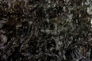 A black granite with cream and white highlights.