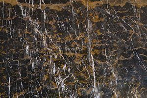 A high variation, black and orange marble.