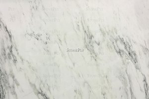 A white marble with soft grey veining.
