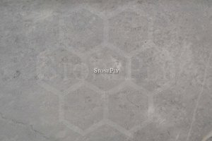 A grey marble with a foggy pattern.