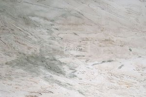 A white granite with grey veins.