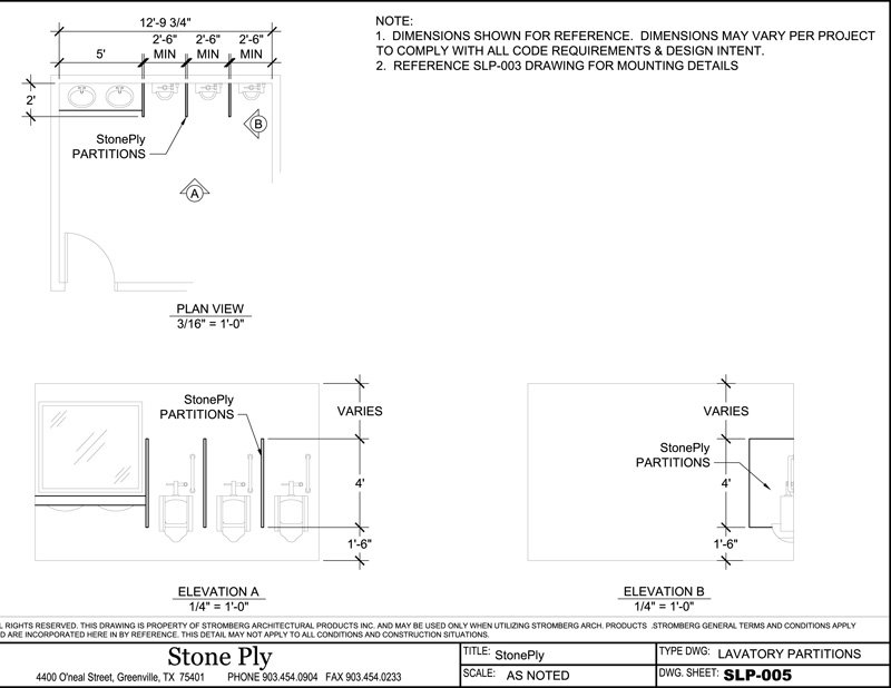 Urinal Screen Dimension Details  SLP 005. CAD   StonePly