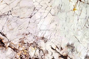 A white granite with veins.