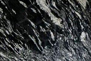 A black and grey granite.