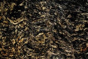 A black and brown granite.