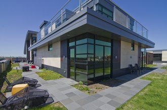 Exterior Photo of River Renaissance Penthouse Suite