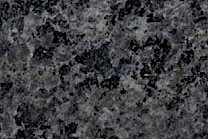 A medium grained, black granite.