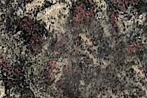 A fine and medium grained, green-grey granite.
