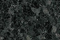 A low variation, black and dark blue granite with coarse texture.