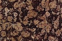 A granite that features black and brown as well as tan flecks.