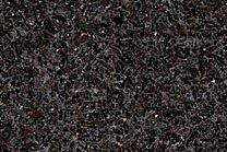A black granite with occasional light grey flecks.