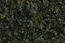 A green granite with darker grains.