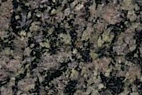 An overall green granite with black pieces.