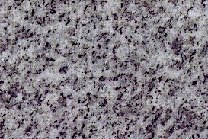 A grey granite with black spots.