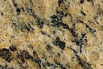 A low variation granite with gold and yellow as well as a grey veined pattern.