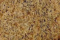A yellow and gold granite with a black veined texture.