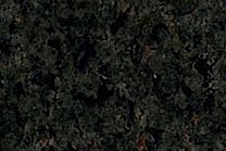 A medium grained, green granite with black flecks.