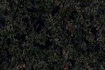 A medium grained, green granite with black flecks.