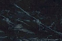 A black marble with a white vein pattern.