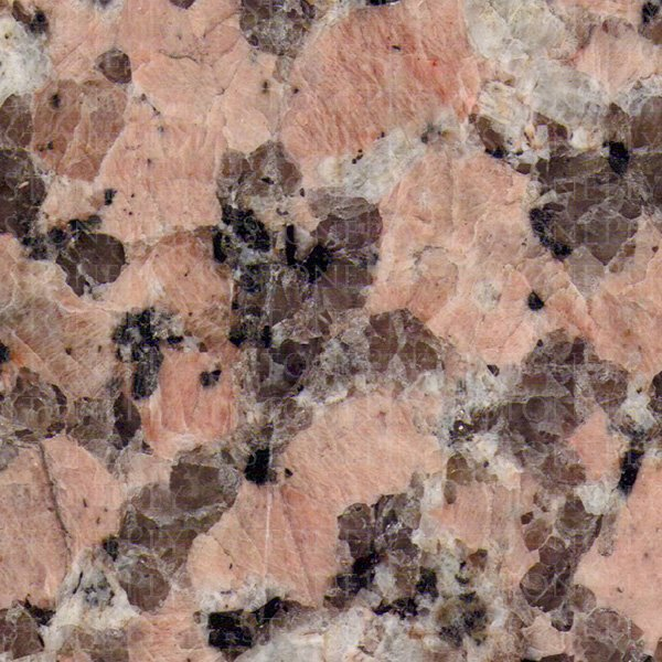 A red-pink and black granite.