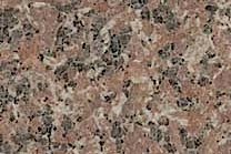 A red granite with some black.