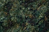 A dark green granite with a medium texture.