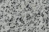 A grey granite with a black spoted pattern.