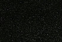 A fine grained, black granite.
