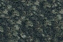 A dark green granite with a black grained texture.