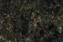 A coarse grained, dark green granite.