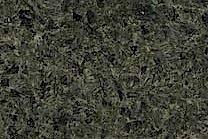 A coarse grained, green and grey granite.